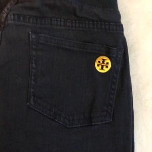 Authentic Tory Burch denim dark blue Leggings